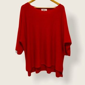 Sparkle Red Sweater with 3/4 Length Sleeves